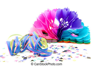 colorful party streamers