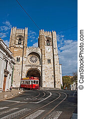Portugal Lisbon - Portugal capital city of Lisbon tram road