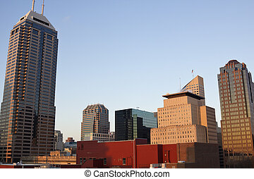 Skyscrapers in Indianapolis - Skyscrapers in downtown of...