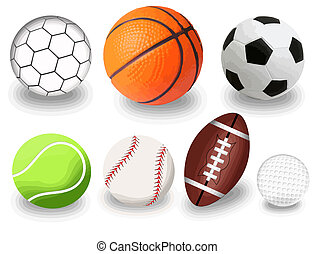 sport balls - Set of sport balls on white background, vector...