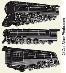 Antique Locomotive Vector