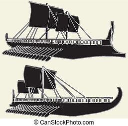The Ancient Viking Ship Vector