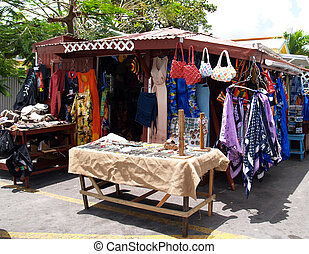 Roadside Shop in Antigua Barbuda - Colorful, roadside shop...