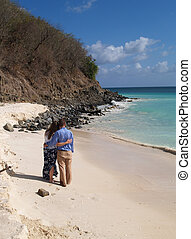 Couple Standing Frys Beach Antigua