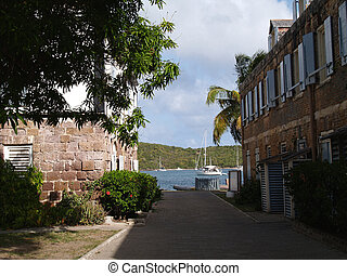 English Harbour in Antigua Barbuda