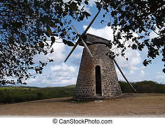 Windmill Bettys Hope Antigua - Old windmill on Bettys Hope...