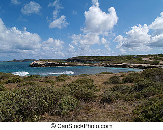 View Near Devils Bridge on Antigua