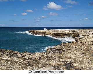 View Near Devils Bridge on Antigua - View of surrounding...
