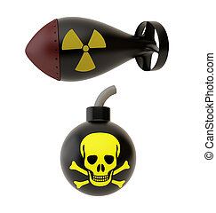 Two bombs - Two bomb isolated on a white background.