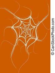 White White Fractal Spider Web
