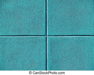 Four Teal or Aqua Blue Squares - Four teal or aqua blue...