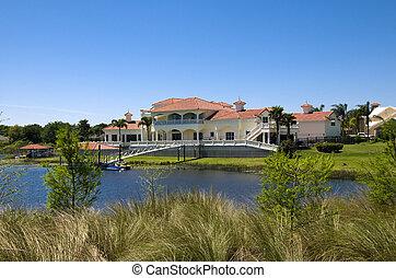 Mansion on a Lake