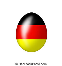 German egg - Easteregg with a German flag on a white...