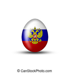 Russian coat of arms on an Easter egg