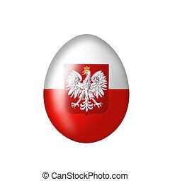 Egg with Polish eagle emblem - Easteregg with a Poland flag...