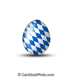 Bavarian Egg with typical pattern - Easteregg with a...
