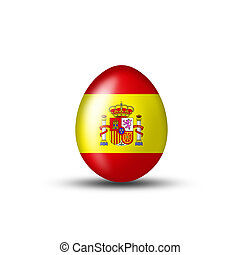 spanish easteregg - Easteregg with a spanish flag on a white...