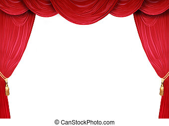 Open Stage Theatre  - Red curtain of a classical theater