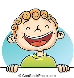 Boy Laughing - Illustration of Boy Laughing