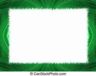 Green Fractal Border White Copy Spa
