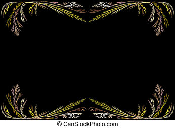 Fractal Frame With Black Copy Space