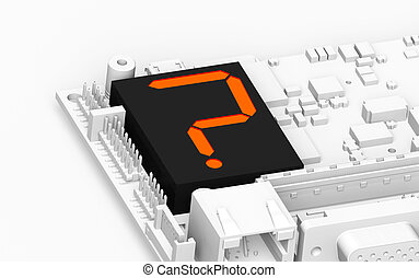 FAQ Hardware - Circuit board with a Led Display showing a...
