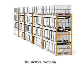 Shelv rack X 5   - 5 Shelve Racks with pallets