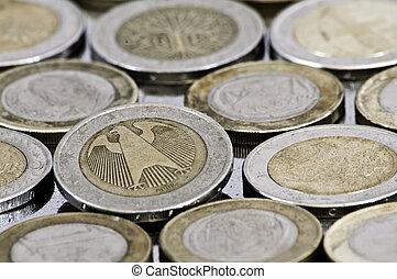 Grungy german euro coin