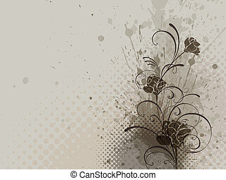 floral background, vector - floral background, EPS 10,...