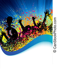 Poster for sport with crowded people EPS 8 vector file...
