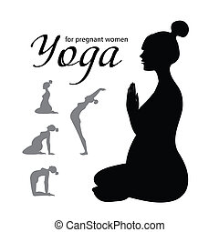 yoga-for-pregnant-women - yoga for pregnant women - a set of...