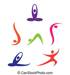 yoga - set of yoga Icons