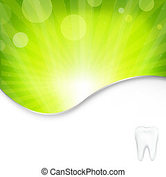 Background With Tooth, Vector Illustration