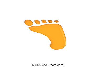 Footprint - Orange Footprint