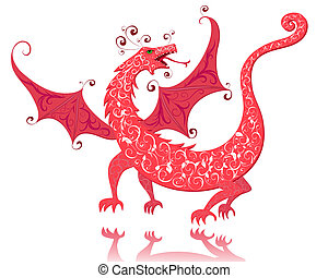 dragon red vintage