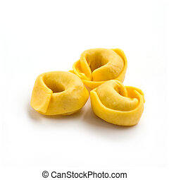 Tortellini - Italian tortellini pasta isolated on white...