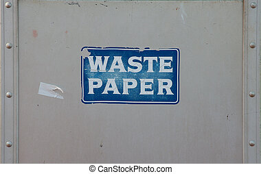 waste paper industrial background