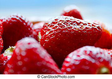 Red strawberries close-up.