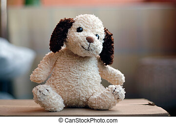 Stuffed Vintage Toy Dog
