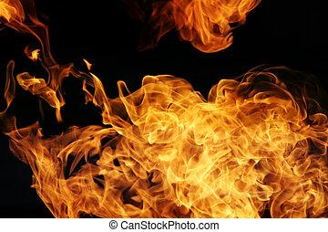 fuego, Llamas, negro, Plano de fondo