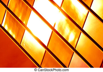 Golden glass pattern abstract background.