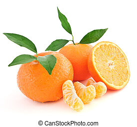 Tangerine oranges - Two whole Tangerine oranges and one...