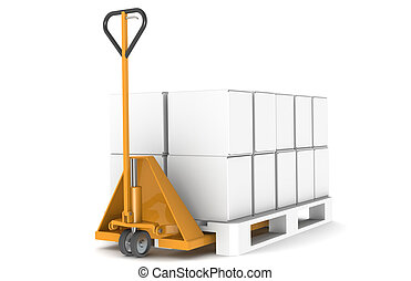 Hand truck and pallet