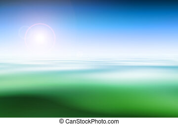 Abstract nature background, computer graphics