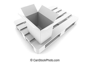 Open Box on Pallet