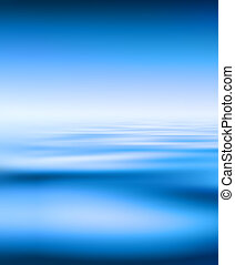 Blue Water And Sky Background