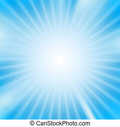 Light burst over cyan background