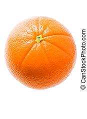 Fresh Orange Isolated On White
