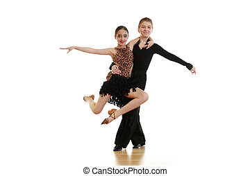 Dancing kids - Children dancing ballroom dance