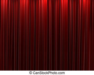 Red velvet curtains background - Background of closed red...